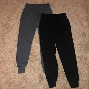 2 pairs of Zella crop jogger sweats